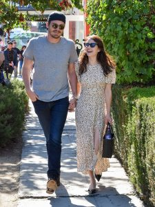 LOS ANGELES, CA - AUGUST 10: Garrett Hedlund and Emma Roberts are seen on August 10, 2019 in Los Angeles, California.  (Photo by BG015 / Bauer-Griffin / GC Images)