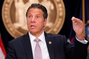 New York Gov. Andrew Cuomo holds a press briefing on Covid pandemic