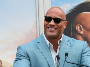 HOLLYWOOD, CALIFORNIA - DECEMBER 10: Dwayne Johnson attends a hand and footprint ceremony honoring Kevin Hart at the TCL Chinese Theater IMAX on December 10, 2019 in Hollywood, California.  (Photo by Jean Baptiste Lacroix / Getty Images)