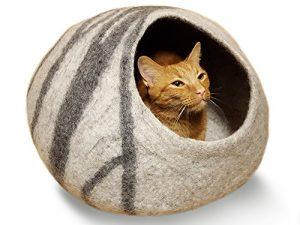 MEOWFIA Premium Felt Cat Cave Bed (Large) - Best cat cave bed