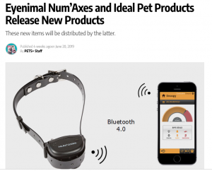 Pets Plus Mag features Ideal and Eyenimal's new Voice Controlled Dog Trainers