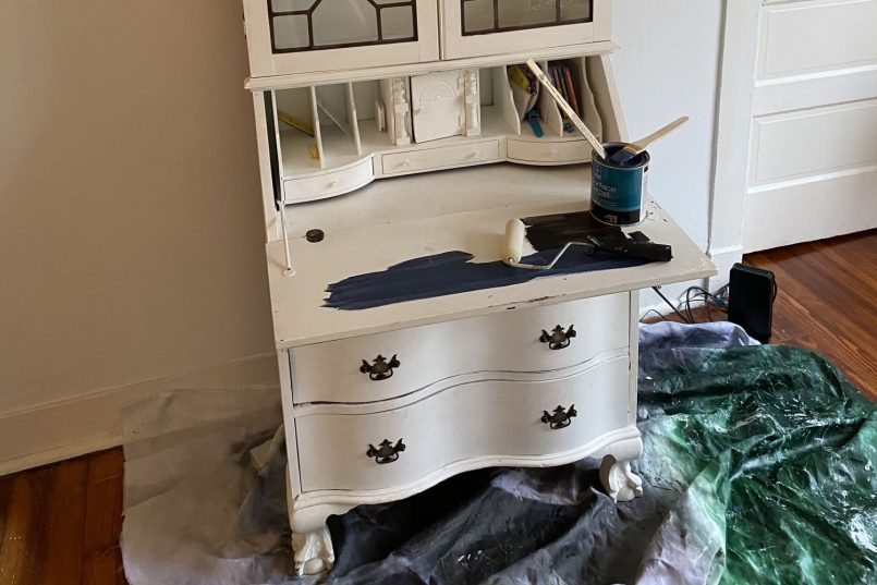 navy-and-white-vintage-cabinet-redo
