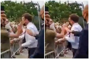 President Macron Slapped in the Face During Tour of Southeastern France