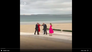 [VIDEO] Unmasked, Vaccinated G7 Leaders Share Awkward Elbow Bumps